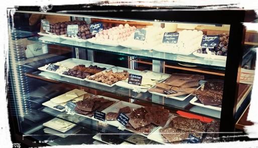 Pralinen und Schokolade in der Markthalle