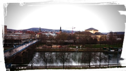 Blick vom Schloss, Saarbrücken