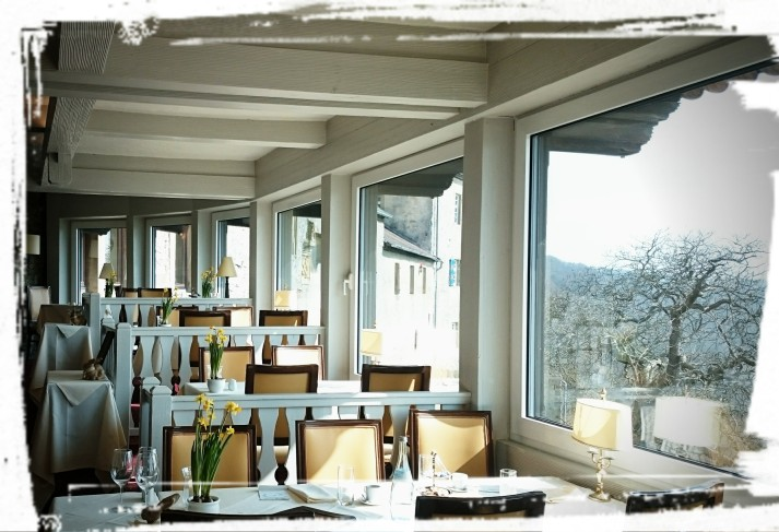 Blick aus dem Restaurant Burg Hornberg