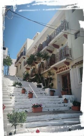 Kleine Gasse in Agios Nikolaos, Kreta