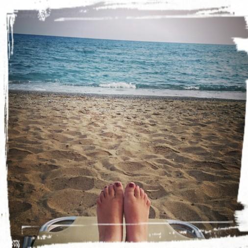 Am Strand von Ammoudara
