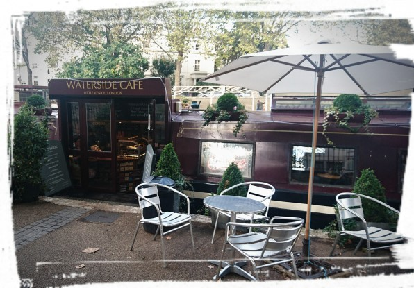 Kaffeepause auf dem Wasser, Little Venice, London