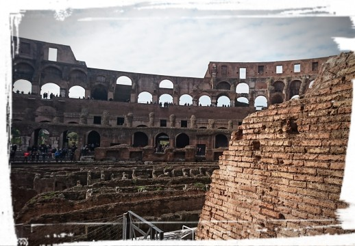 und Kolosseum von innen